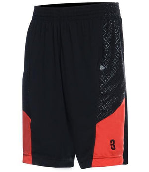 DRYV BALLER 2.0 Dry Hand Zone Basketball Shorts - Black/Black/Red