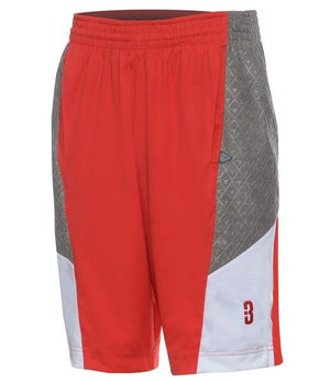 DRYV BALLER 2.0 Dry Hand Zone Basketball Shorts - Red/Grey/White