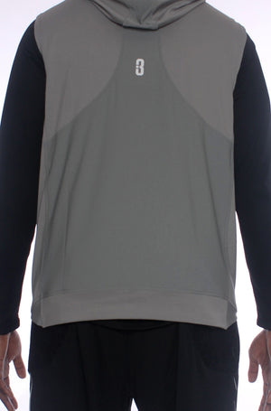 All Day Sleeveless Hoodie - Grey/Back