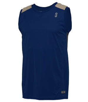 DRYV Uniform Mens Basketball Jersey - Navy/Grey