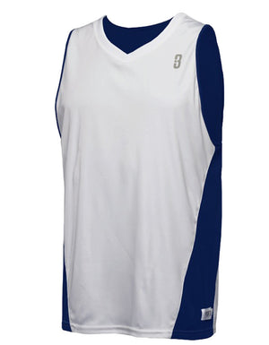 Reversible Game Unisex Basketball Jersey - Navy/White Reverse Front