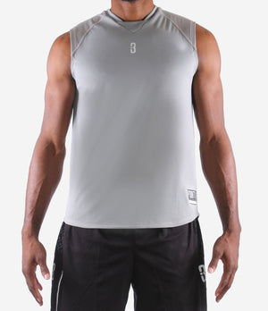 O.T. Sleeveless Workout Top - Grey