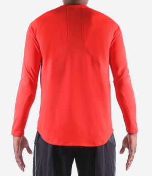 Youth Fadeaway Long Sleeve Shooting Shirt - Red Back