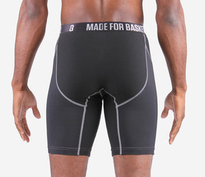Youth BASE Compression Shorts - Black Back