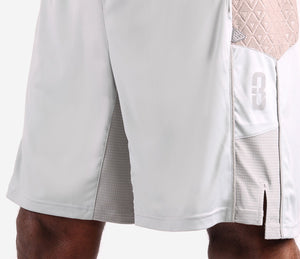 Youth DRYV Baller 3.0 Dry Hand Zone Basketball Shorts - Grey - Rise Differential