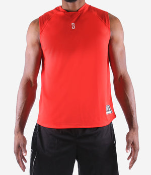 O.T. Sleeveless Workout Top - Red