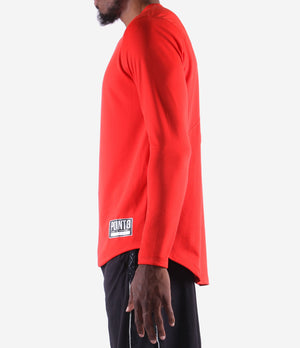 Youth Fadeaway Long Sleeve Shooting Shirt - Red Side