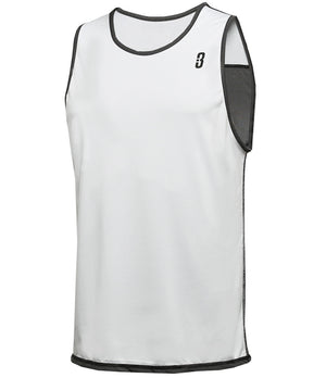 Reversible LT Unisex Lightweight Basketball Jersey - White/Black