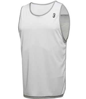 Reversible LT Youth Lightweight Basketball Jersey Grey/White Reverse Front