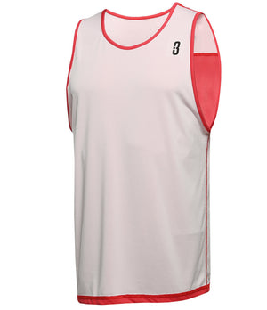Reversible LT Unisex Lightweight Basketball Jersey Red/White Reverse Front