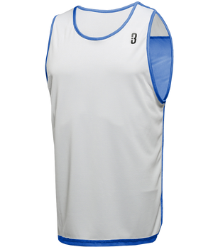 Reversible LT Unisex Lightweight Basketball Jersey - Royal/White Reverse Front