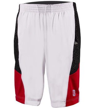 DRYV BALLER 2.0 Dry Hand Zone Basketball Shorts - White/Red/Black