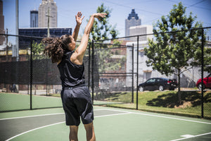 DRYV® WOMEN'S BASKETBALL TOP Triple Black - shot