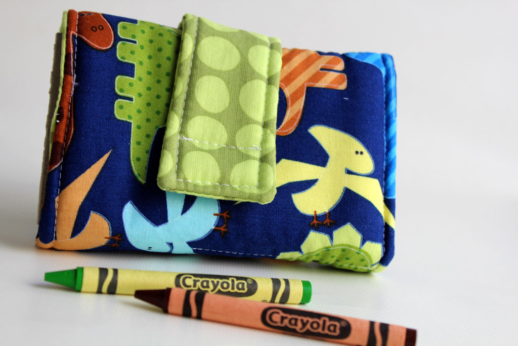 Crayon Wallet - Dinosaur Friends