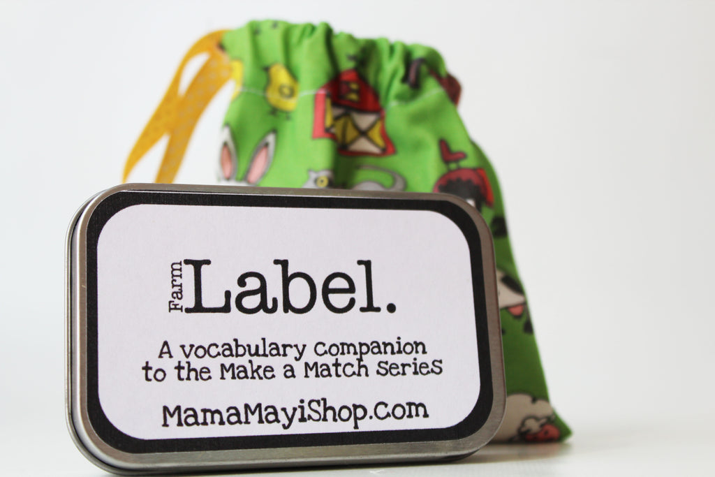 Label - Farm - Montessori Word Relation Game