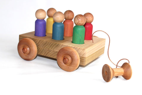 Picture of The Rainbow Wagon Boys - Toddler Little People Car Pull Toy