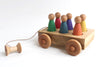 The Rainbow Wagon Girls - Toddler Little People Car Pull Toy