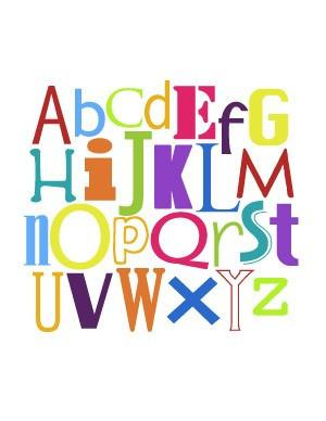 Art - Alphabet Nursery Art