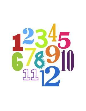 Art - Numbers Nursery Art
