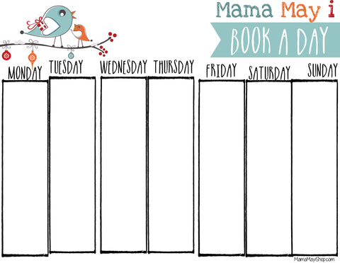 Picture of FREE - Mama May i Book A Day - Holiday Countdown - BLANK Calendar Download