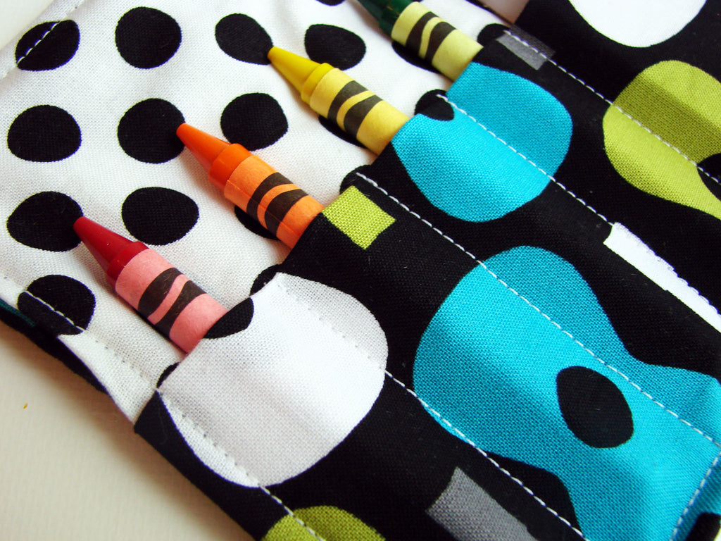 Groovy - Crayon Wallet - Montessori Art Supply Materials for Self Guided Art