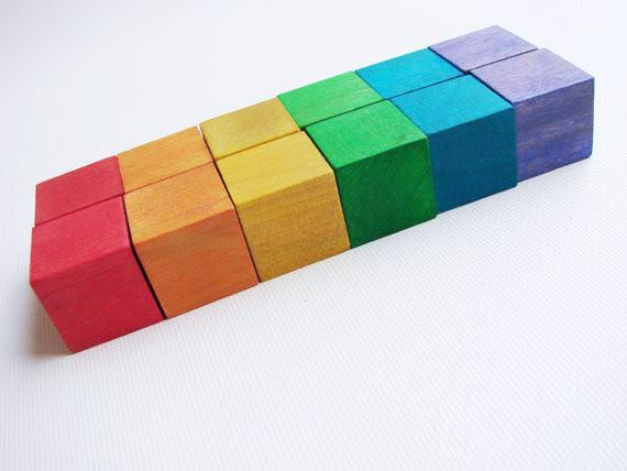 Wooden Toy - Rainbow Blocks