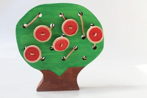 Wooden Toy - The Apple Doesn't Fall Far From The Lacing Tree