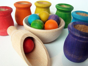 Handmade Colored Cups and Balls