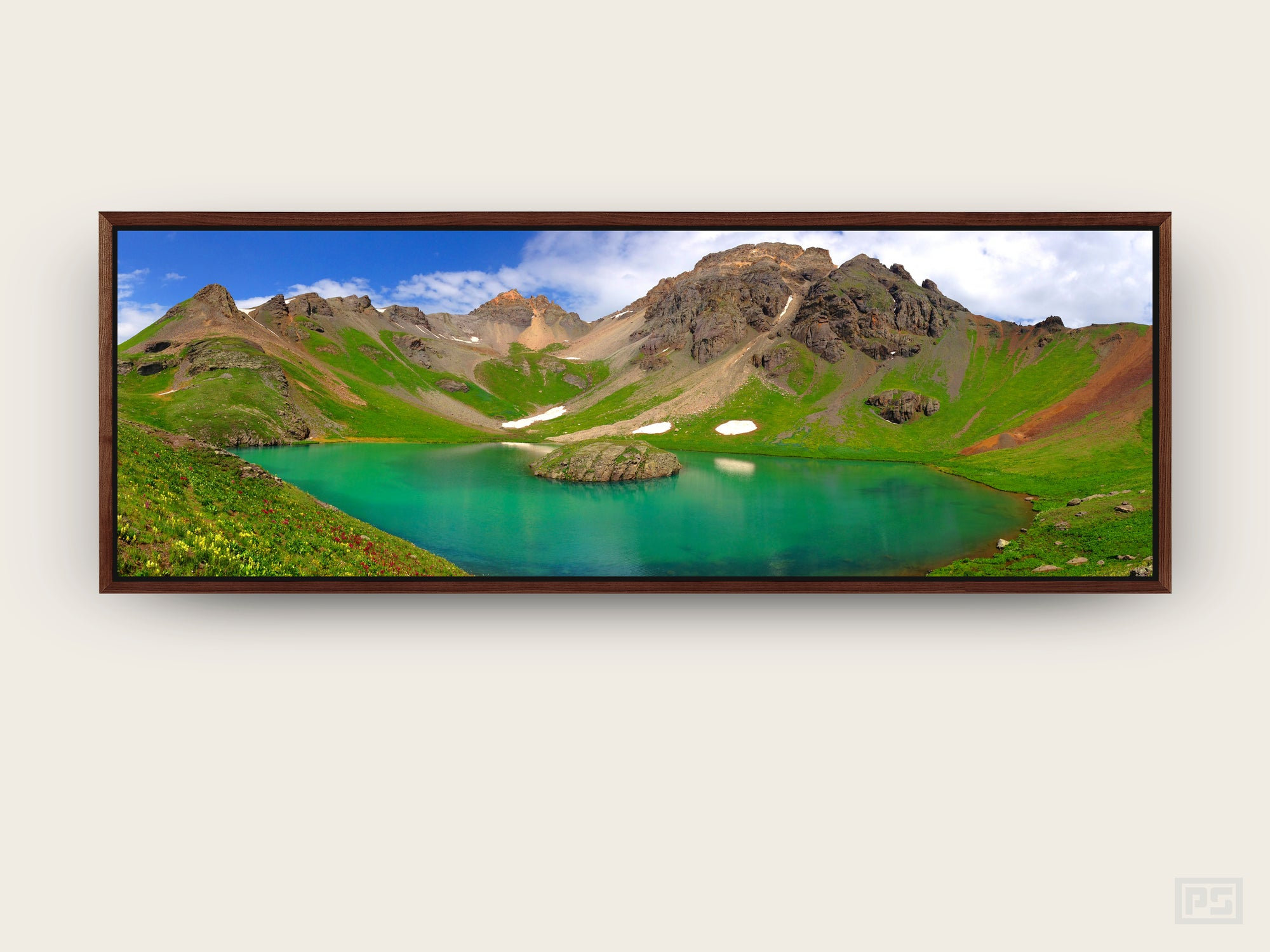 "Framed Canvas Print ""The Island in the Sky"""