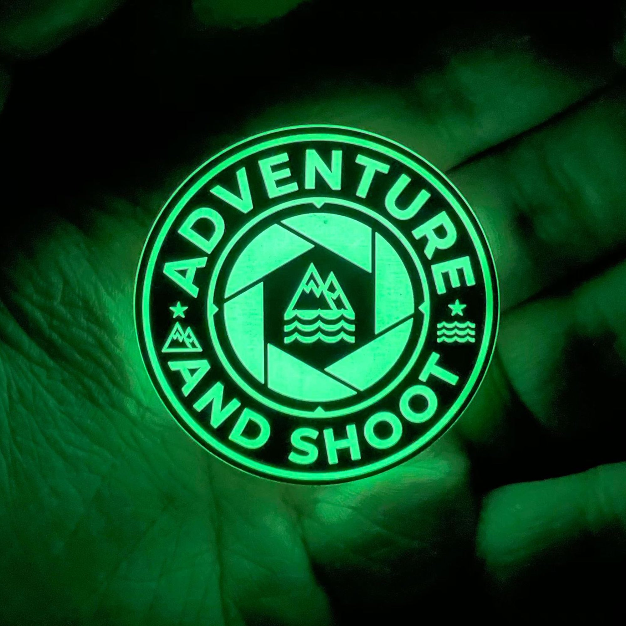 Adventure and Shoot GITD Acrylic