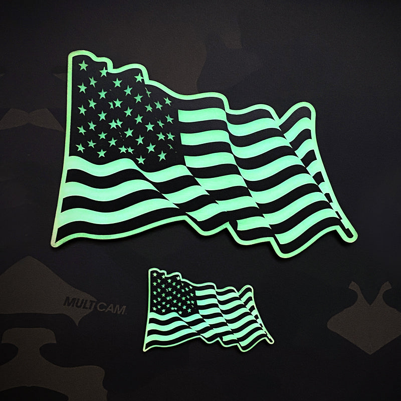 "GITD Acrylic patch set ""BELOVED OLD GLORY"""