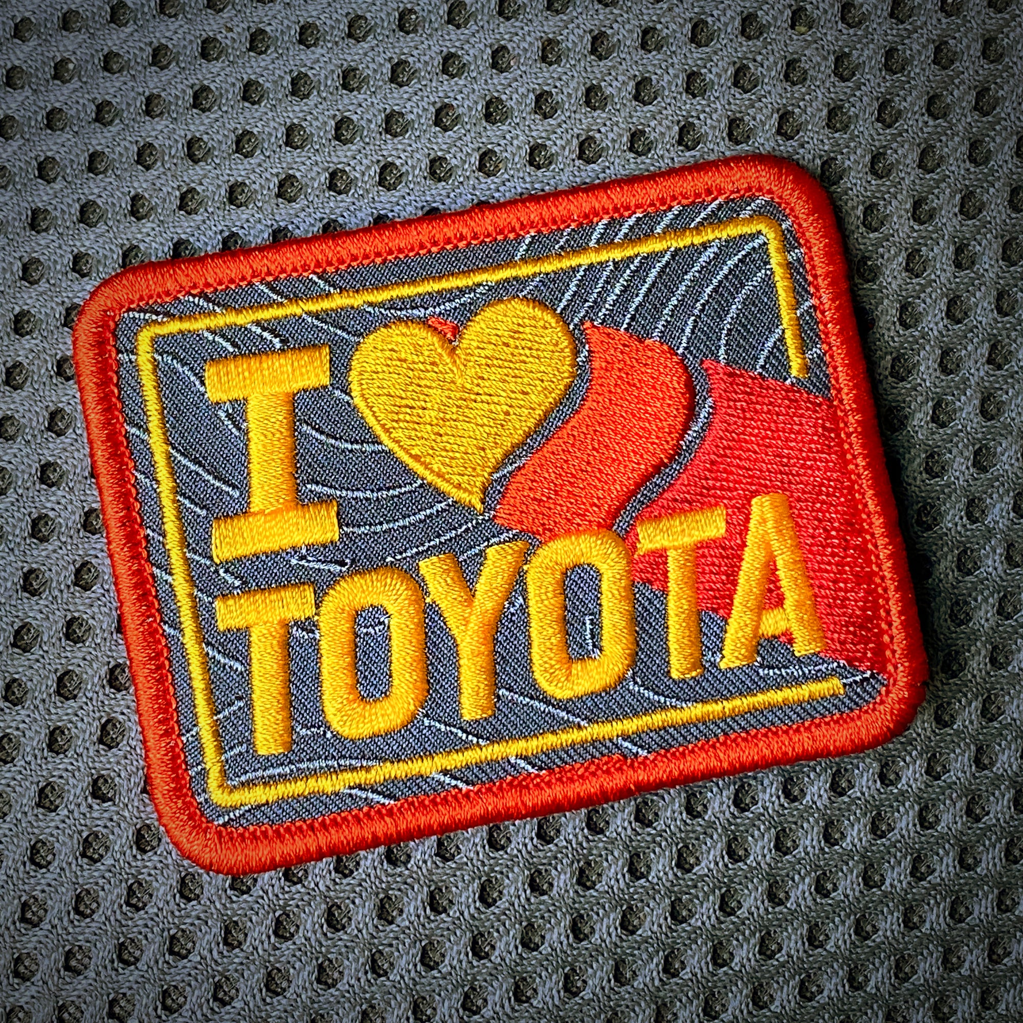 "I HEART TOYOTA ""Nod to Ivan Stewart"" PATCH"