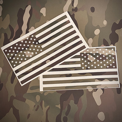 "American Flag L & R Vinyl ""MultiCam® Standard"" STICKER SET"