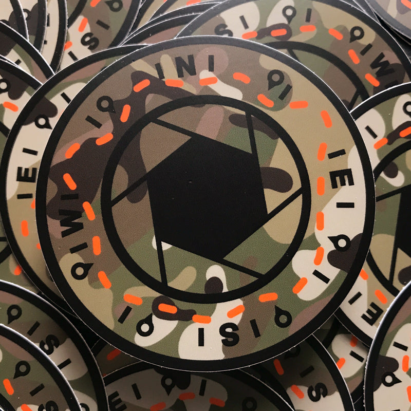 "Adventure Camo / Blaze Orange ""MC STD"" STICKER"