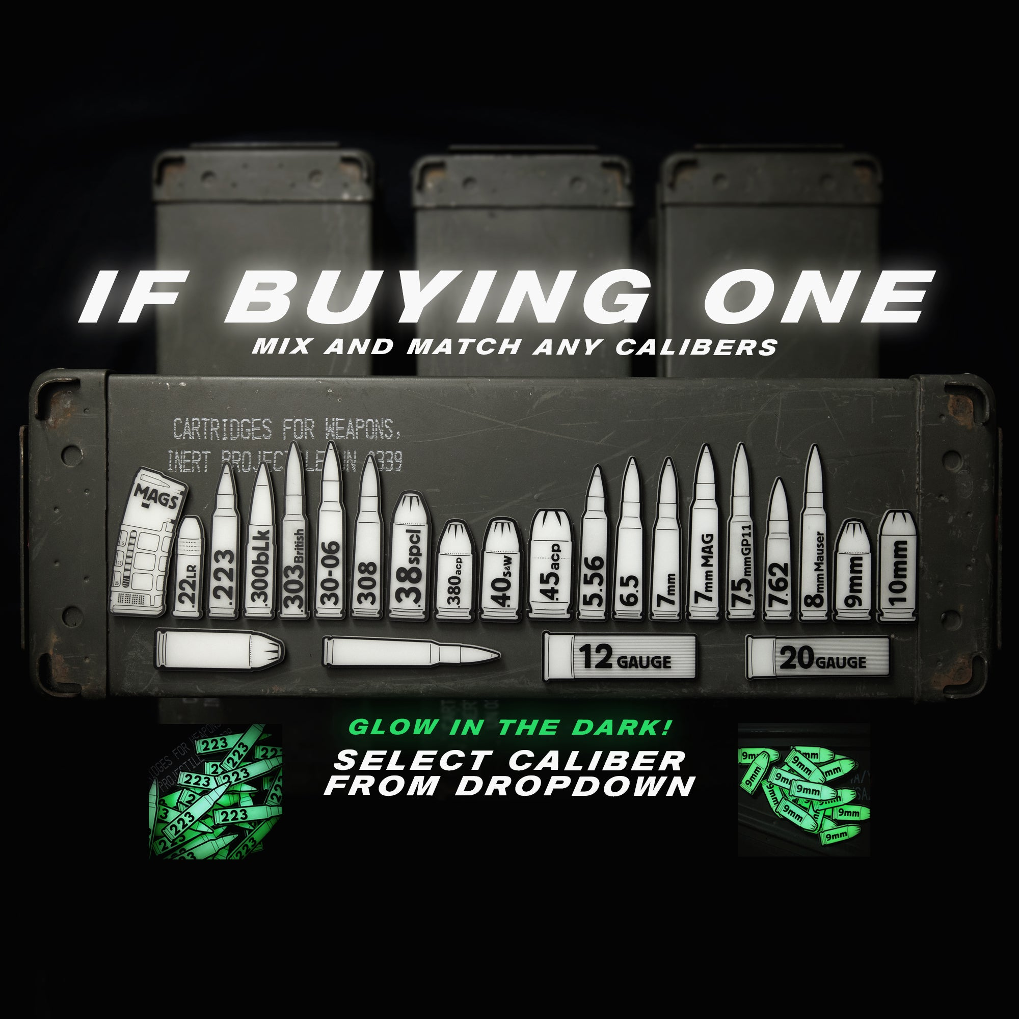 Ammo Can GITD Patches / Labels - BUYING ONE