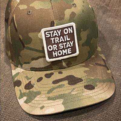 "TRAILS V1 ""STAY ON TRAIL OR STAY HOME"" PATCH SET & Sticker"