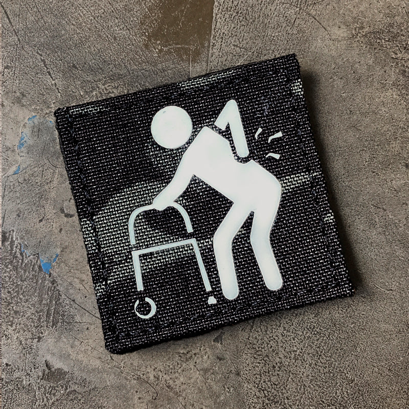 "GRAMPS V1 ""MC BLK GITD"" Lasercut patch"