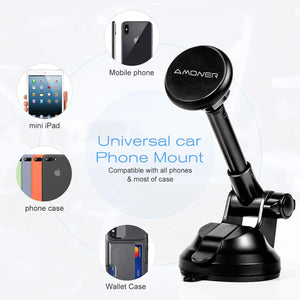 How to install a magnetic car phone holder quickly and sturdily