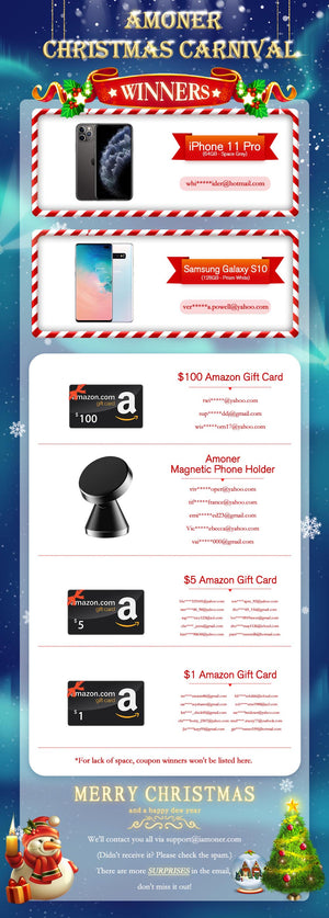 Amoner Christmas Giveaway Winner List