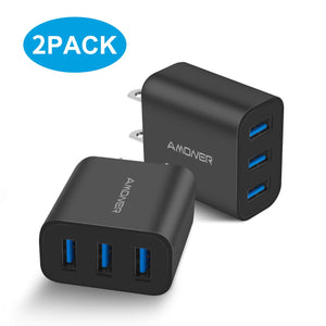 Amoner Fast Charger 2 Pack Black