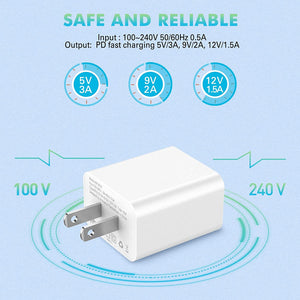 iPhone Charger 18W, Amoner USB C Fast Charger for iPhone 12/12 Mini /12 Pro Max, PD 3.0 Fast Charger, PD Type C Charger Compatible with iPhone 11, iPad Pro, AirPods Pro