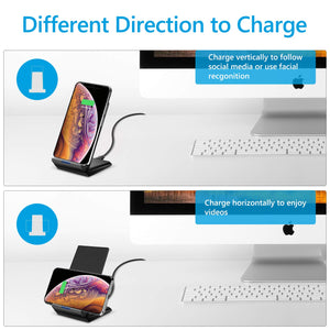 Amoner Wireless Charger Supporting 2 Direction to Charge