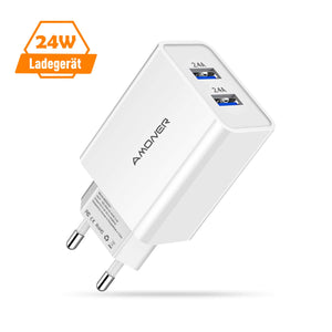 Amoner 24W Phone Charger For Germans