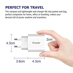 Amoner Travel Charger For Spain