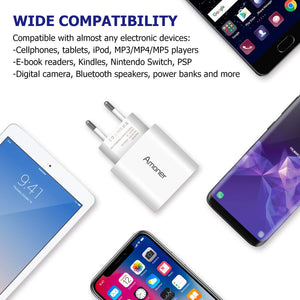 Amoner Cheap Phone Charger For iPhone, Samsung, Xiaomi, Huawei For Spain