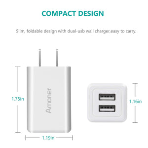 Amoner Compact 2-Port Charger