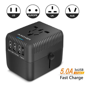 Amoner Travel Charger For German