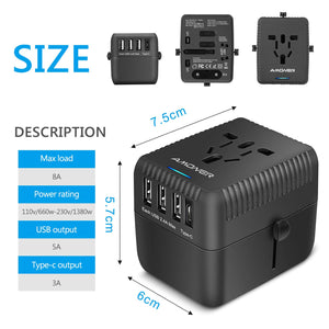 Amoner Compact Travel Charger For Germany