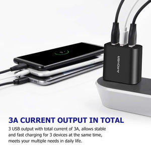 Amoner Fast Charger For iPhone & Android For France