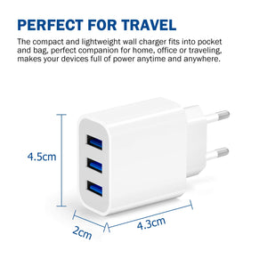 Amoner Compact 3-Port Charger EU Standard For Germany